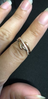 Two tone silver and rose gold diamond ring Hagerstown, 21740