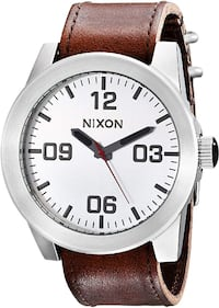 NIXON Men's Corporal Series Analog Quartz Watch/Leather Toronto