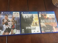 three assorted PS4 game cases Dallas, 75220