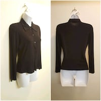 Slinky Black Button-Up Collared LS Shirt - Small Las Vegas, 89121