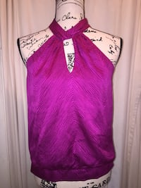 Ann Taylor fushia  sleeveless top Scottsville, 14546