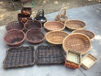 Wicker/Bamboo baskets  Los Angeles, 90069