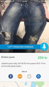 blå Kristen distressed jeans skärmdump Angered, 424 48