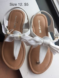 Pair of white leather sandals. Girls size 12 Chevy Chase, 20815