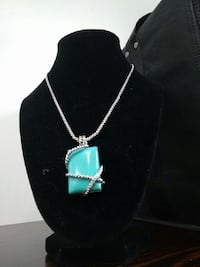 stunning turquoise necklace with pave Ontario, M6S 2G8