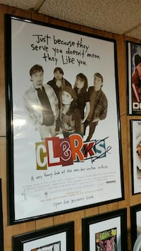 Clerks poster with black frame Liberty, 29657