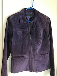 Women's Purple Suede Alfani Jacket, Size M Saint Rose, 70087