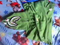 Green Bape hoodie looking to trade for Bape shorts/or selling St Catharines, L2P