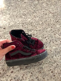 Pair of red velvet Vans size 11-only worn a couple times! Sacramento, 95829
