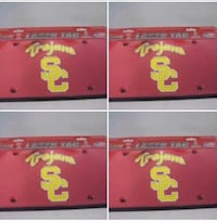 4 USC Trojans Red License Plate Covers Riverside