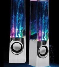 Two silver dancing water speakers  Markham, L3P 4R1