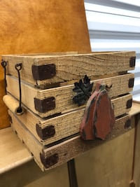 Autumn wood decorative box