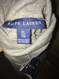 size XL gray Ralph Lauren apparel