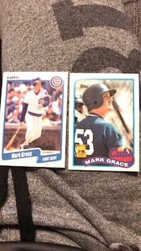 two Mark Grace trading cards Crown Point, 46307