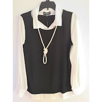 K.Lagerfeld Necklace Blouse M Burnaby