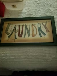 """LAUNDRY SIGN/PICTURE 21 3/4"""" X 12"""" Hagerstown, 21740"""