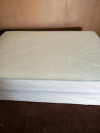white mattress with white bed frame Opa-locka