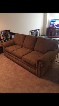 Brown fabric 3-seat sofa Alexandria, 22312