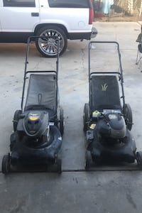 Both lawnmowers work two for the price of one cleaning out my garage Lancaster, 93534