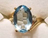 18kt Gold Plated Ring w/a Blue Aquamarine stone Hopewell Junction, 12533