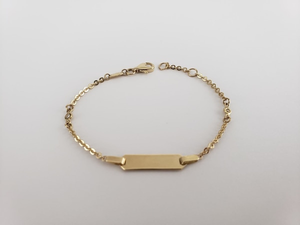 10k Yellow Gold Baby ID Bracelet 7