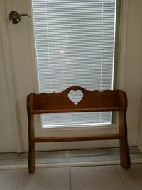 Hanging Wall Shelf Solid Wood w/ Heart  Norfolk, 23503