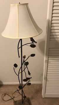 black metal base white shade table lamp Cape Coral, 33990