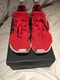 Red and black NMD size 10