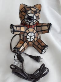 Tiffany Stained Glass Style Teddy Bear Table Lamp Night Light