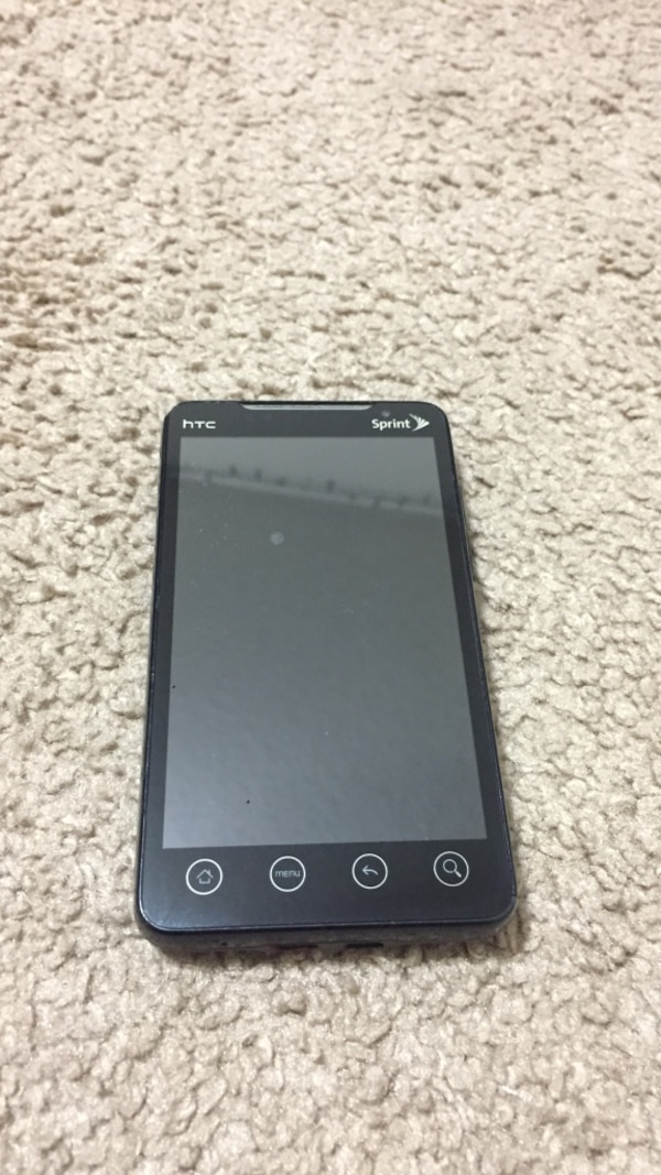 black HTC smartphone