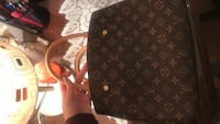 black and brown Louis Vuitton leather bag Toronto, M1P 2R7