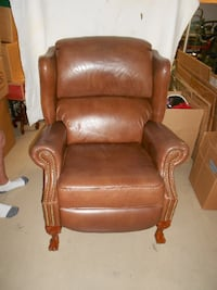 brown leather recliner sofa chair BRADENTON