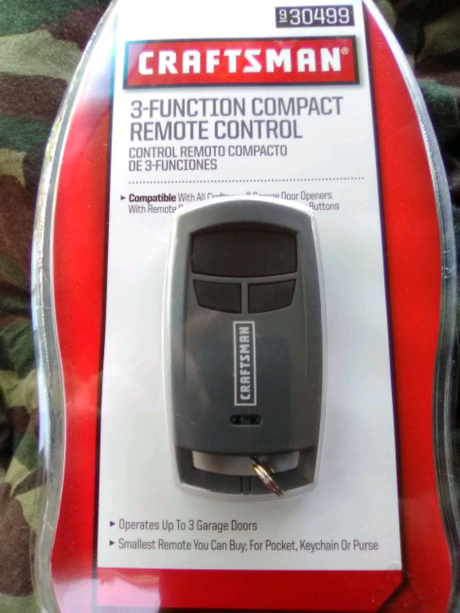 Photo CRAFTSMAN 3 Function compact garage door remote control