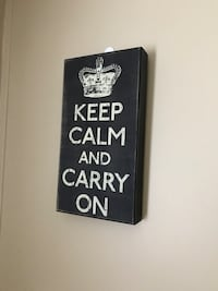 black and white keep calm and carry on wall decor Ames