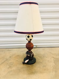 Sports themed childrens lamp