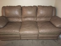 Both for 40 Brown leather 3-seat sofa Columbus, 43228