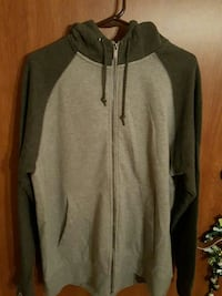 black and gray zip-up pullover hoodie Detroit Lakes, 56501