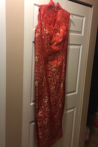 Red Chinese dress Vancouver, V5R 6C1