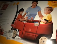 Deluxe childs wagon and attached trailer . ( brand new in box )   .
