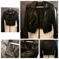Small black leather jacket Barrie