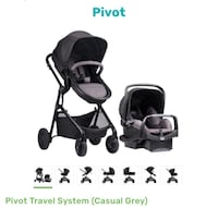baby's black and gray travel system Compton, 90220