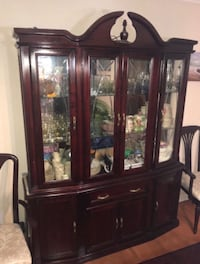 7 piece cherrywood dining set with matching china cabinet Markham, L3P 4R3
