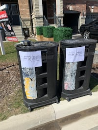 Free two cases on rollers, curb pickup