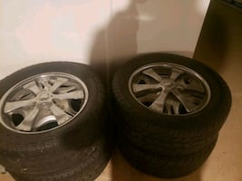 Used but good 22 inch Oasis Spinner Rims (5 lugs) with 22 inch Toyo