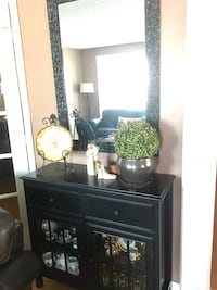 Brown curio cabinet (mirror included Vaughan