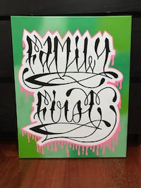 Family first hand painted canvas $30 Saanich, V9E 1J5