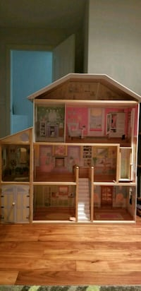 Wooden Doll House w/furniture  De Winton, T0L 0X0