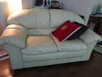 white leather 2-seat sofa Centreville, 20120