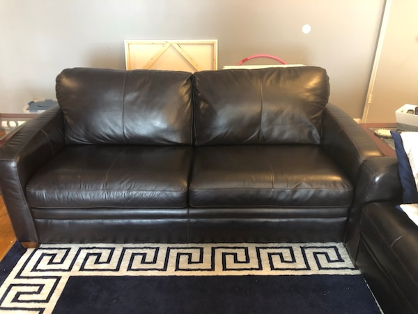 Used Leather sleeper couch for sale in Clark - letgo