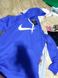 blue and white Nike pullover hoodie Regina, S4T 3B4